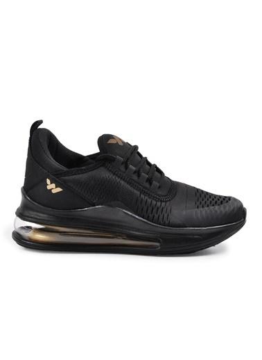 Walkway 720 Siyah-Altın Unisex Spor Ayakkabı Siyah